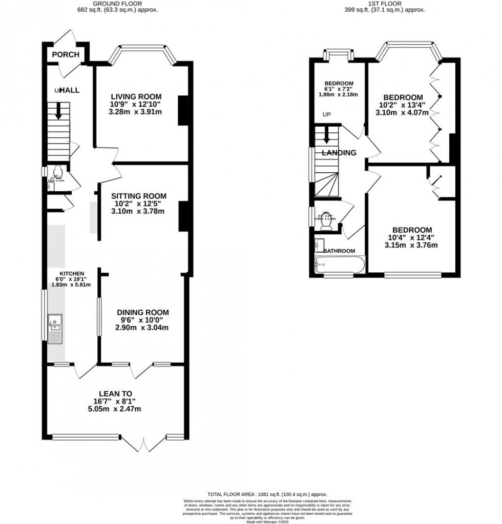 Floorplan for Old Manor Drive, Isleworth