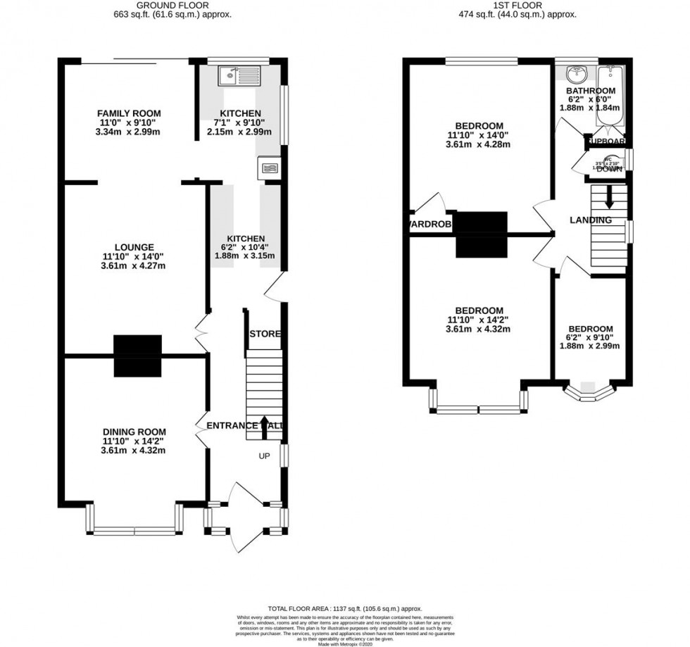 Floorplan for Keswick Road, Whitton