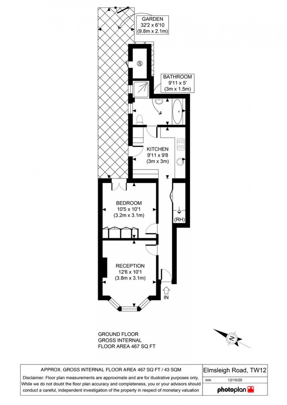 Floorplan for Elmsleigh Road, Twickenham