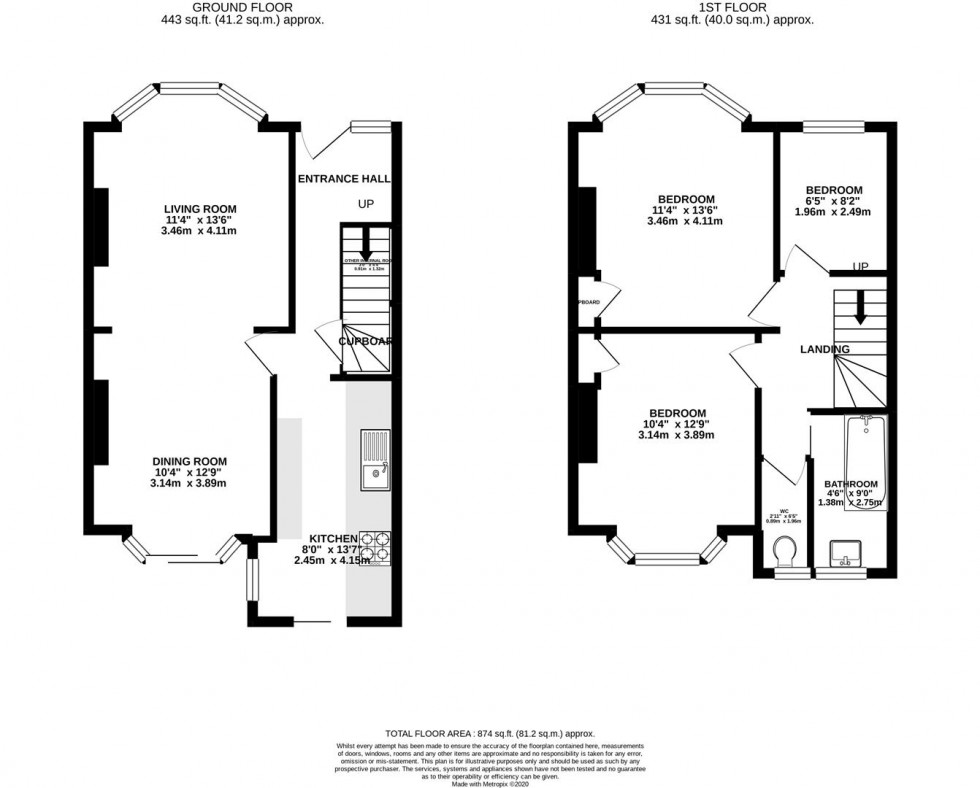 Floorplan for Southland Way, Hounslow