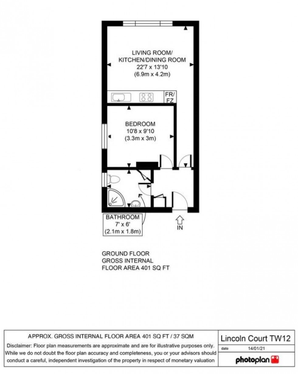 Floorplan for Buckingham Road, Hampton