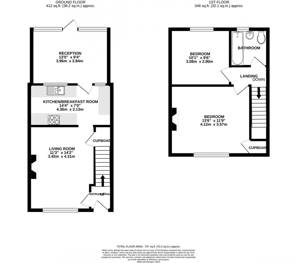 Floorplan for Springfield Road, Whitton